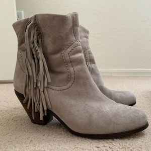 Sam Edelman Gray Suede Booties Ankle Boots sz 7.5